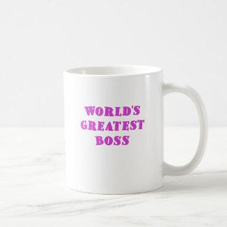Worlds Greatest Boss Basic White Mug