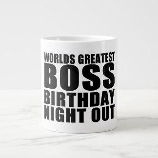 Worlds Greatest Boss Birthday Night Out Jumbo Mug