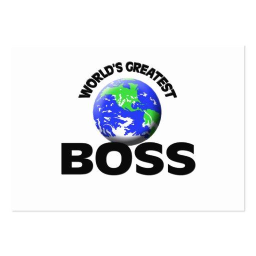 World's Greatest Boss Business Card Template