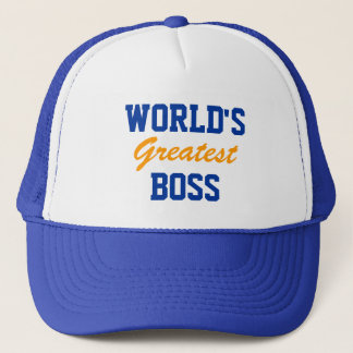 World's greatest boss cap