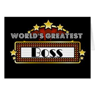 World's Greatest Boss Card