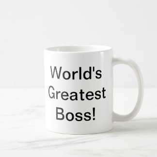 World's Greatest Boss Coffee Mug