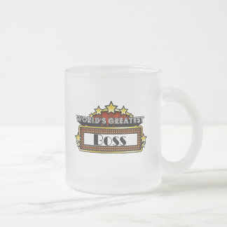 World's Greatest Boss Frosted Glass Mug