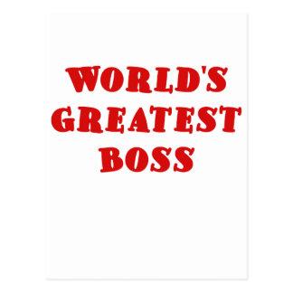 Worlds Greatest Boss Postcard
