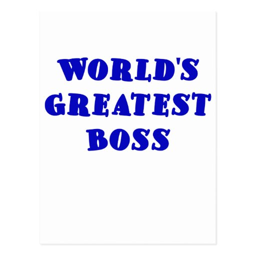 Worlds Greatest Boss Postcards