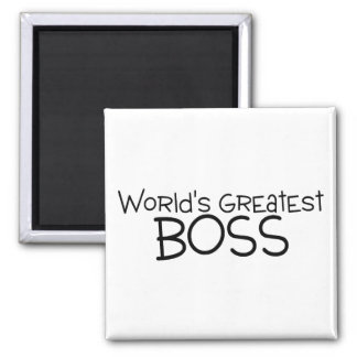 Worlds Greatest Boss Square Magnet