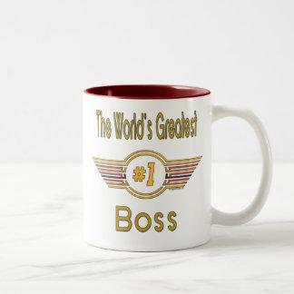 World's Greatest Boss Two-Tone Mug