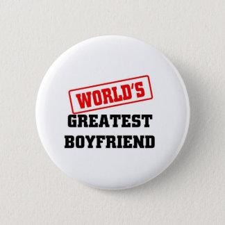 World's greatest boyfriend 6 cm round badge