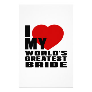 WORLD'S GREATEST BRIDE PERSONALISED STATIONERY