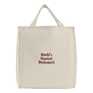World's Greatest Bridesmaid Canvas Bags