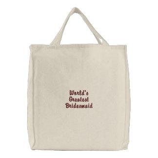 World's Greatest Bridesmaid Canvas Bags