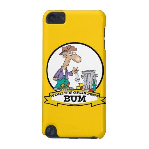 WORLDS GREATEST BUM MEN CARTOON iPod TOUCH 5G COVERS