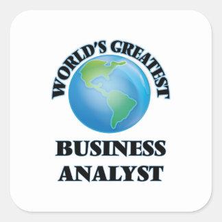 World's Greatest Business Analyst Square Sticker