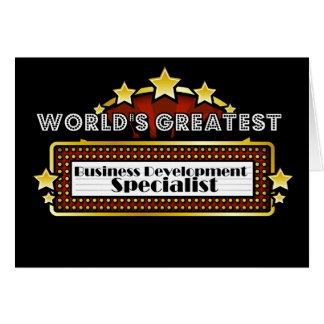 World's Greatest Business Development Specialist Greeting Cards