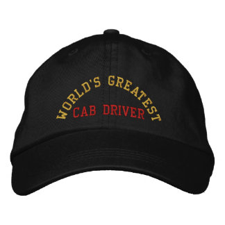 World's greatest, cab driver embroidered hat