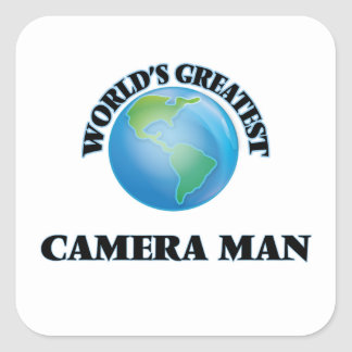 World's Greatest Camera Man Square Sticker