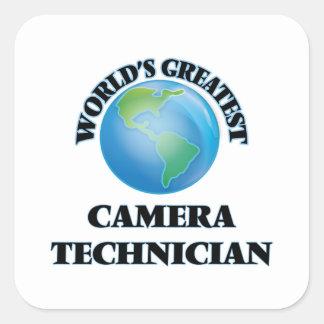 World's Greatest Camera Technician Square Sticker