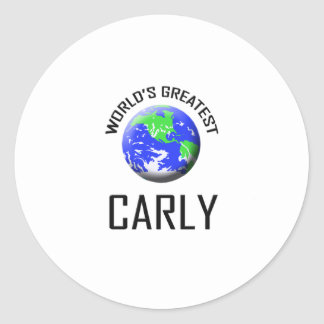 World's Greatest Carly Classic Round Sticker