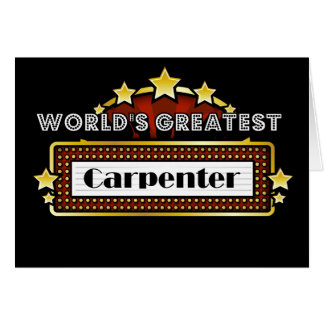 World's Greatest Carpenter Card
