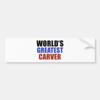 World's greatest CARVER Bumper Sticker