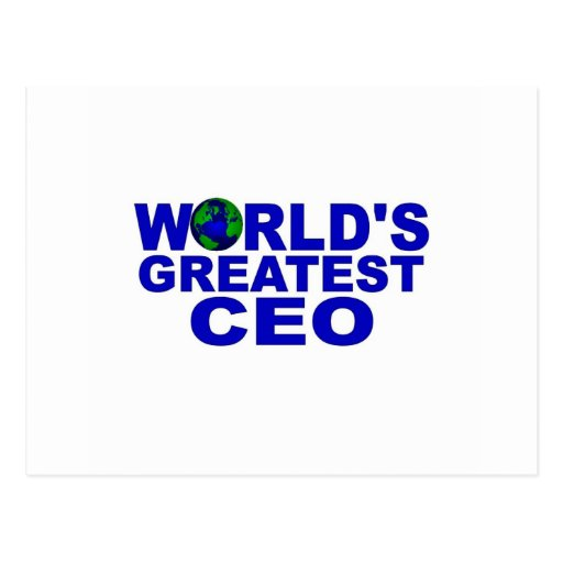 World's Greatest CEO Post Cards