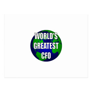 World's Greatest CFO Postcard