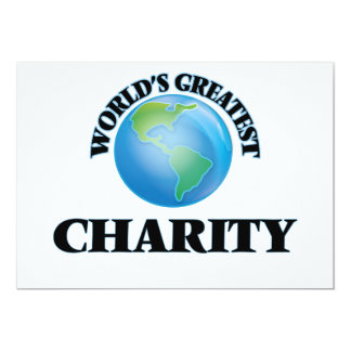 World's Greatest Charity Custom Invitations