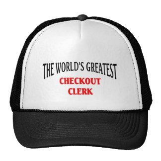 World's greatest Checkout Clerk Cap