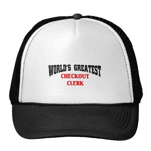 World's greatest checkout clerk hats