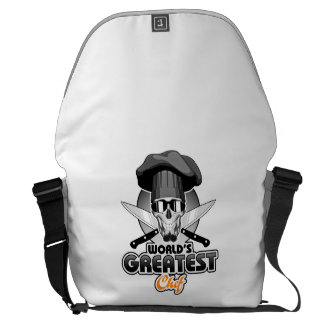 World's Greatest Chef v7 Courier Bags