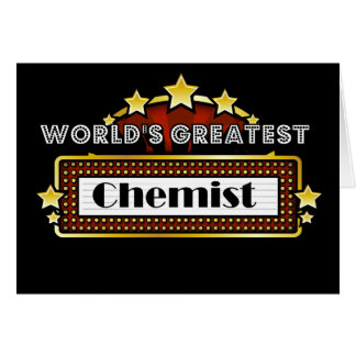 World's Greatest Chemist Card