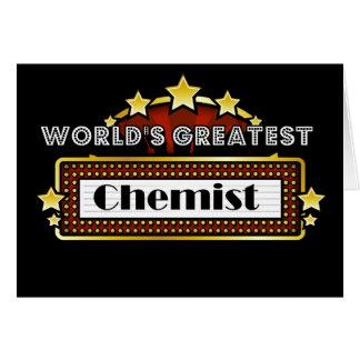 World's Greatest Chemist Card