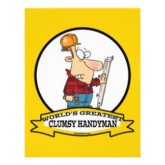 WORLDS GREATEST CLUMSY HANDYMAN MEN CARTOON CUSTOM FLYER