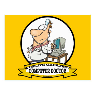 WORLDS GREATEST COMPUTER DOCTOR MEN CARTOON POSTCARDS