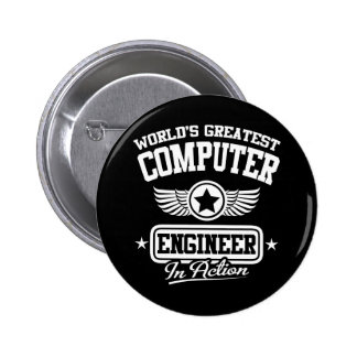 World's Greatest Computer Engineer In Action 6 Cm Round Badge