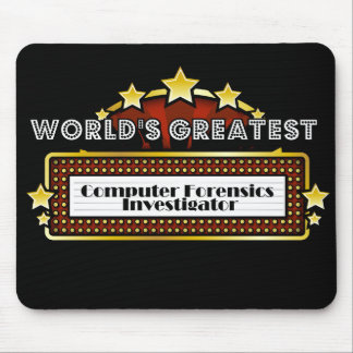 World's Greatest Computer Forensics Investigator Mouse Pad