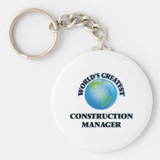 World's Greatest Construction Manager Keychain