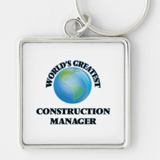 World's Greatest Construction Manager Key Chains