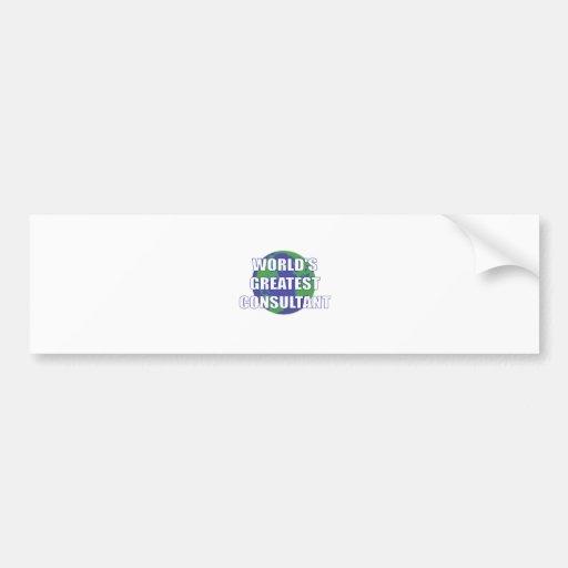 World's Greatest Consultant Bumper Sticker