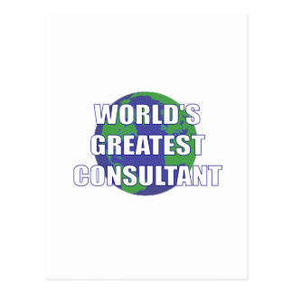 World's Greatest Consultant Post Cards