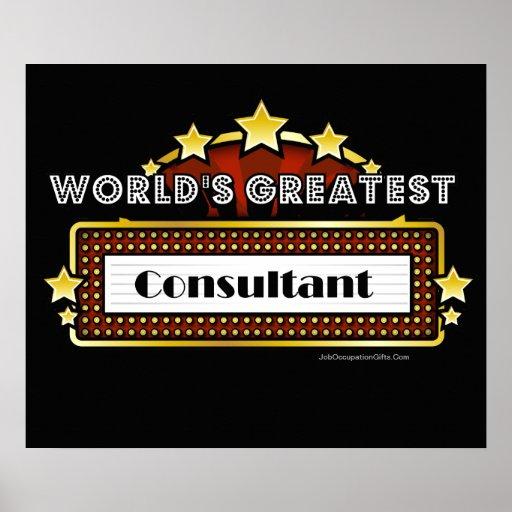 World's Greatest Consultant Print
