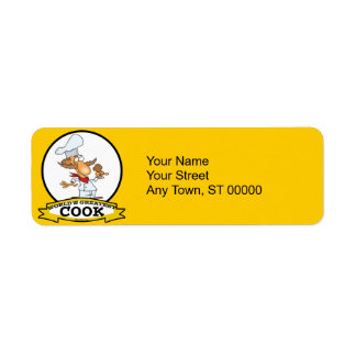WORLDS GREATEST COOK MEN CARTOON RETURN ADDRESS LABEL