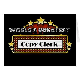 World's Greatest Copy Clerk Greeting Card