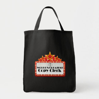 World's Greatest Copy Clerk Grocery Tote Bag