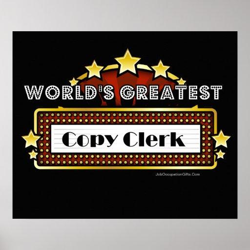 World's Greatest Copy Clerk Print
