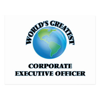 World's Greatest Corporate Executive Officer Postcard