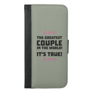 Worlds greatest couple Z8r93 iPhone 6/6s Plus Wallet Case