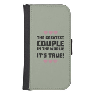 Worlds greatest couple Z8r93 Samsung S4 Wallet Case