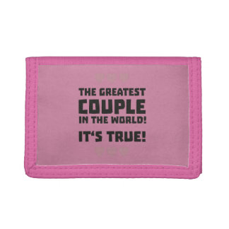 Worlds greatest couple Z8r93 Tri-fold Wallets