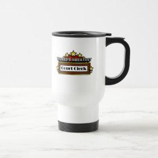 World's Greatest Court Clerk Stainless Steel Travel Mug